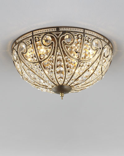 Small Elizabethan Flush Mount Ceiling Light