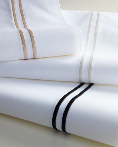 King 200 Thread-Count Solid White Resort Fitted Sheet