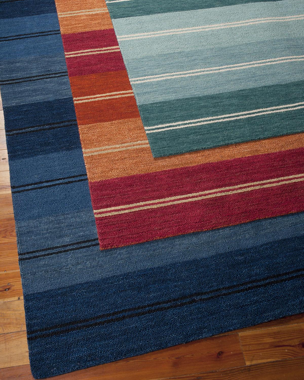Neiman_marcus Villa Stripes Flatweave Rug, 7'9 X 10'10