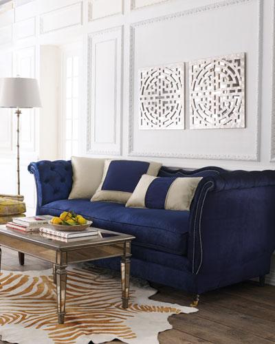 Horton Navy Velvet Sofa