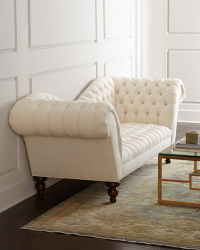 Ellsworth Neutral Recamier Sofa 94