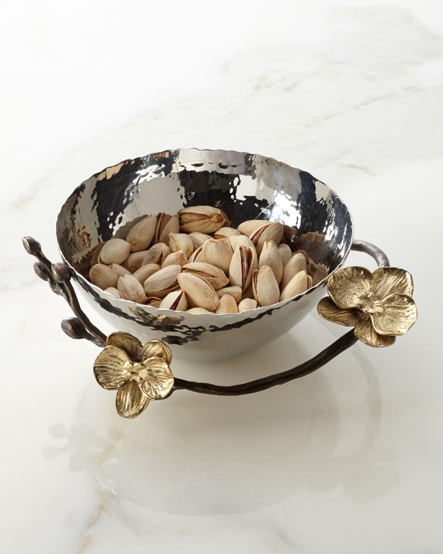 Michael Aram Dinnerwares GOLD ORCHID NUT BOWL