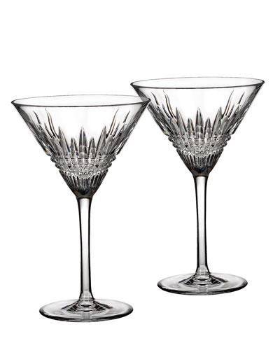 Lismore Diamond Martini Glasses, Set of 2