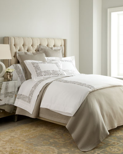 King Plumes Embroidered Sham