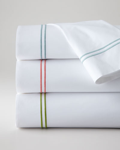 Two King New Resort 200TC Satin-Stitched Pillowcases