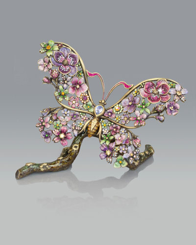 Floral Butterfly Figurine