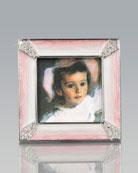 Leland Pink Pave Corner Square Frame