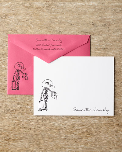 25 Diva Correspondence Cards with Personalized Envelopes