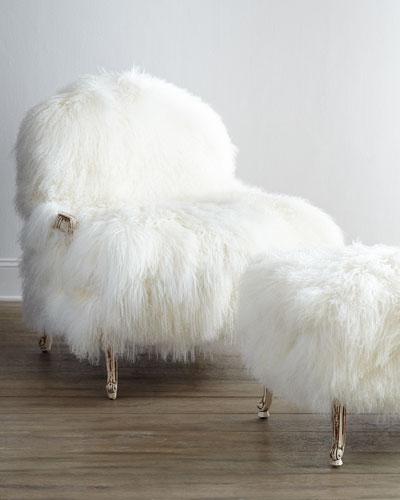 Worthen Sheepskin Bergere Chair
