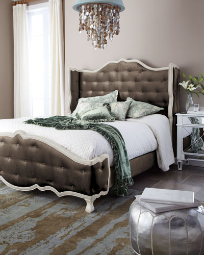 Taupe Tabitha Tufted King Bed