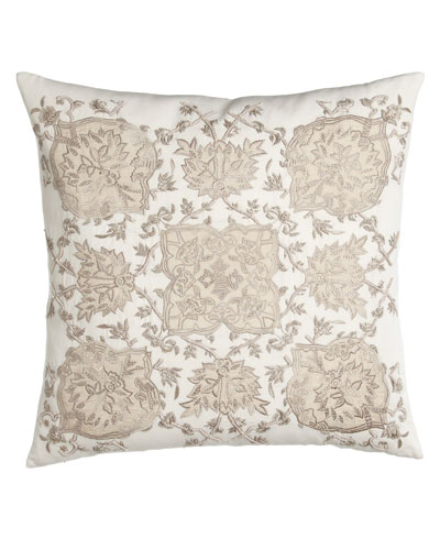 Avalon Square Pillow with Cream Ground, 22
