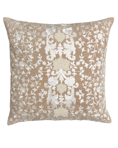 Avalon Square Pillow with Natural Ground, 22