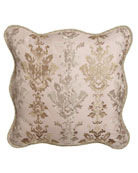 Alessandra Scalloped Damask European Sham