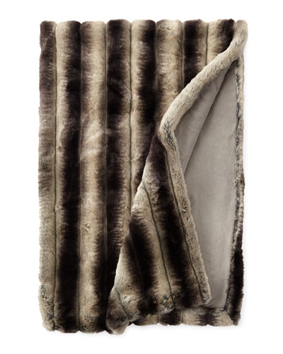Queen Faux-Chinchilla Throw, 54