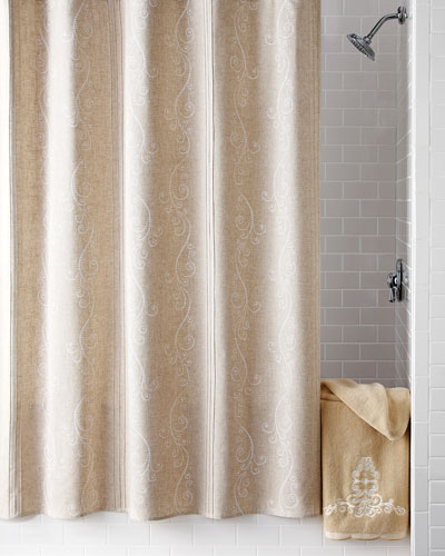 Imported Shower Curtain Neiman Marcus Imported Shower Drape
