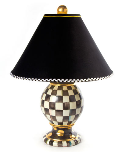 Courtly Check Medium Globe Lamp