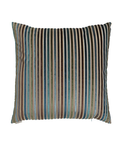 Avery Teal Stripe Pillow, 24