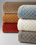 Austin Horn Collection Elite European Quilted Velvet Sham