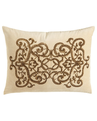 Como Sequined Velvet Pillow, 20