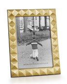 "Brass Pyramid 5"" x 7"" Picture Frame"