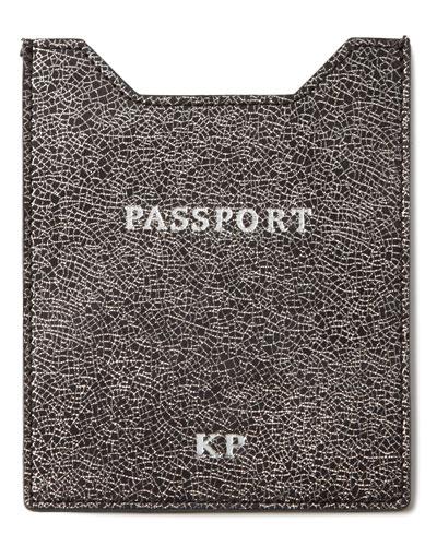 Glitter-Leather Passport Sleeve