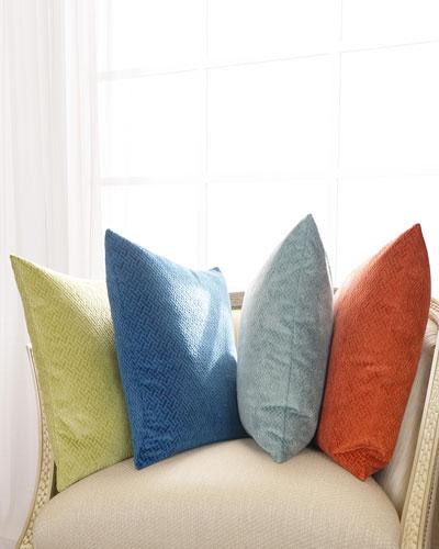 Azure Maze Pillow