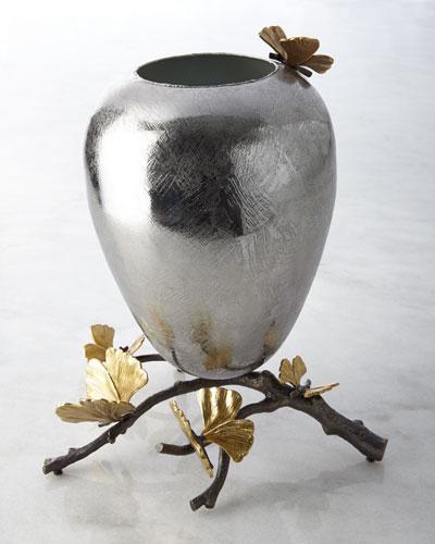 Medium Butterfly Ginkgo Vase