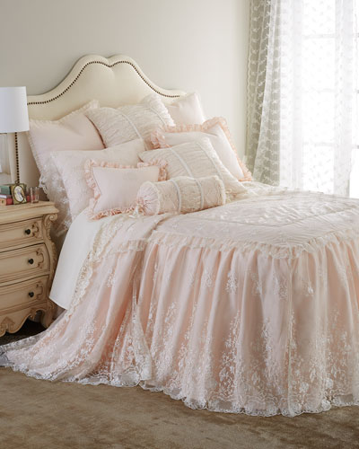 King Queen Ann Lace Skirted Coverlet