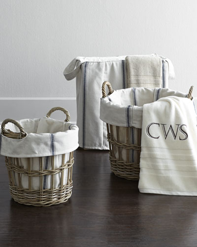Bryn Laundry Tote with Wood Frame