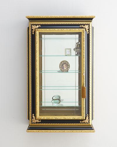 Gold & Black Single-Door Vitrine