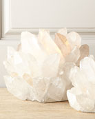 Large Clear Quartz Votive Holder