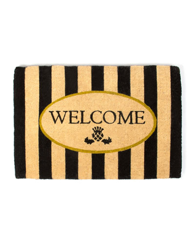 AWNING STRIPE WELCOME MAT