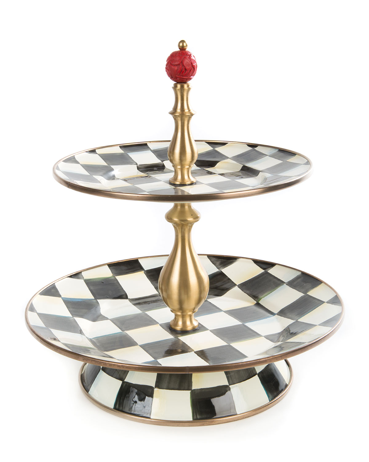Courtly Check Two-Tier Sweet Stand