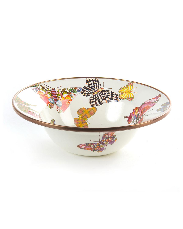 White Butterfly Garden Breakfast Bowl