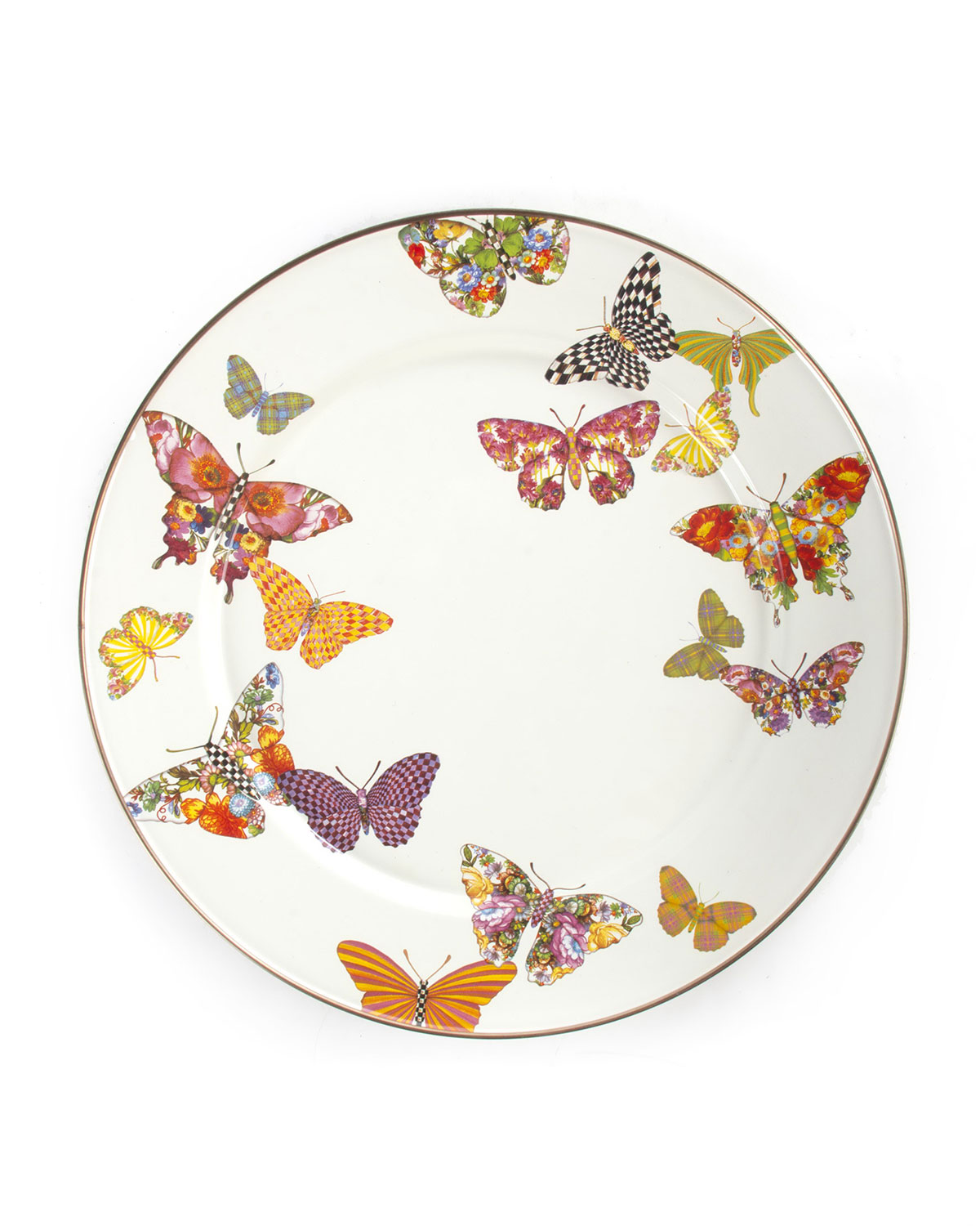 White Butterfly Garden Salad Plate