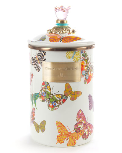 Large Butterfly Garden Canister