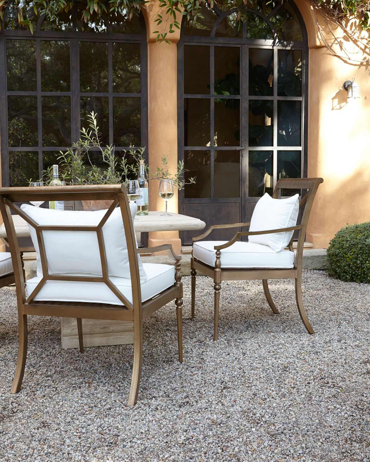 Two Sophia Outdoor Dining Chairs