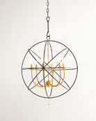 Gold Orbit 6-Light Chandelier
