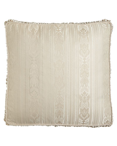 Le Creme Maison Stripe European Box Sham with Shirred Velvet Gusset