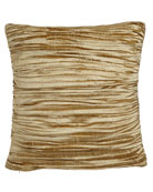 Austin Horn Collection Antoinette Pleated Silk Pillow with