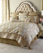 King Antoinette Diamond-Stitch Coverlet