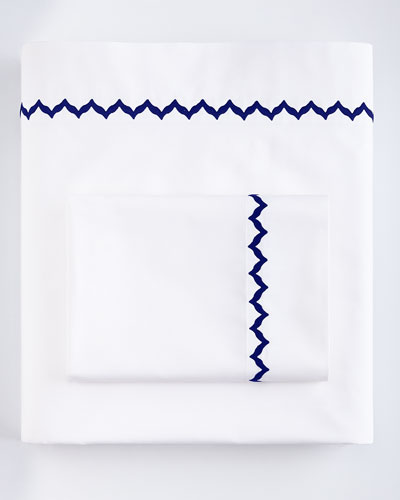 Bargello Queen 200TC Solid White Fitted Sheet