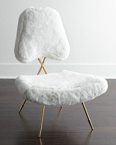 Maxime White Lounge Chair