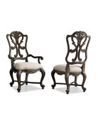 Two Donabella Wood-Back Side Chairs
