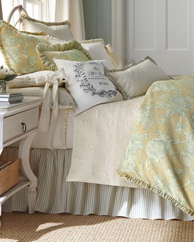 Victoria Seersucker Stripe Pillow, 12