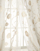 "Each 108""L Regal Embroidered Floral Sheer"