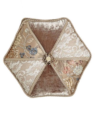 French Chantilly Hexagonal Patch Pillow, 18