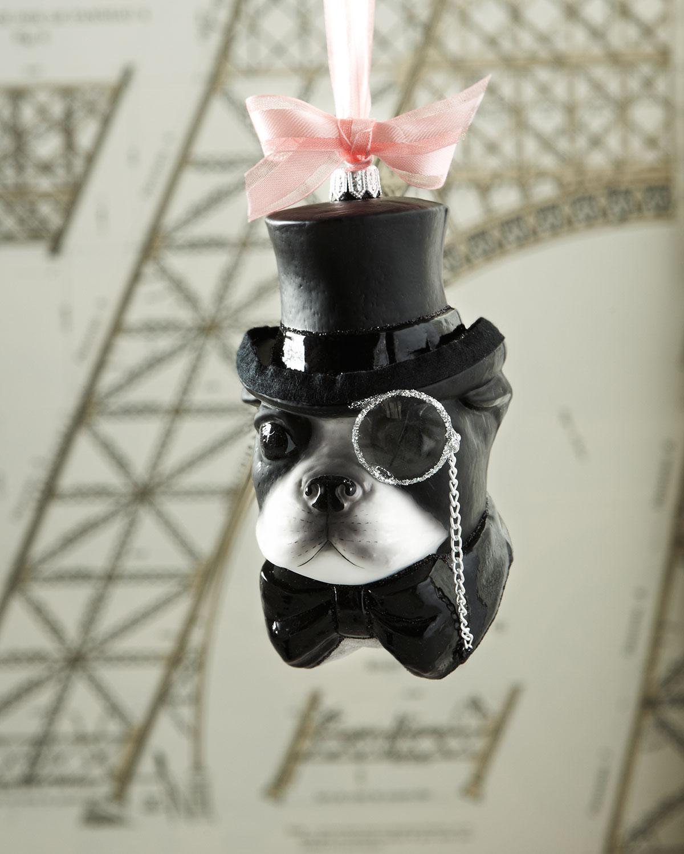 Mr. French Bulldog Christmas Ornament