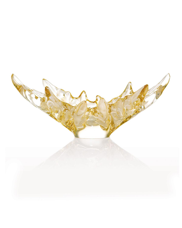 Lalique Dinnerwares CHAMPS-ELYSEES BOWL - GOLD LUSTRE