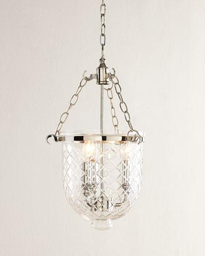 Diamonte Etched 3-Light Pendant
